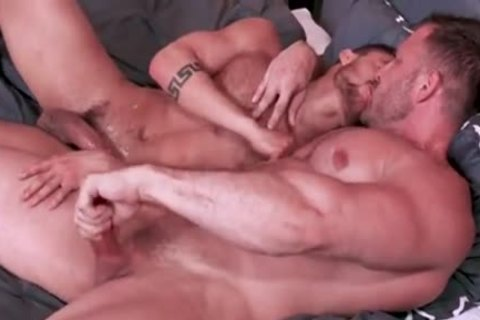 Austin Wolf drilling Hard Beaux Banks In Office Room