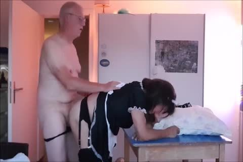 Maid Sissy Cleans house Sucks cock gets banged