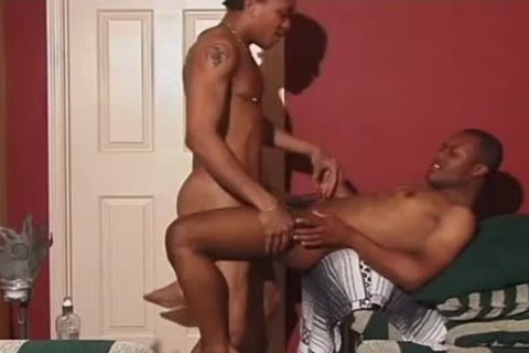 Frisky black men Share An Intimate pont of time On The sofa