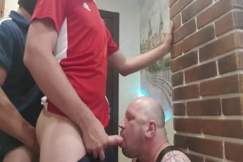 two slavemaster From The Doorway Hard pound throat And unprotected