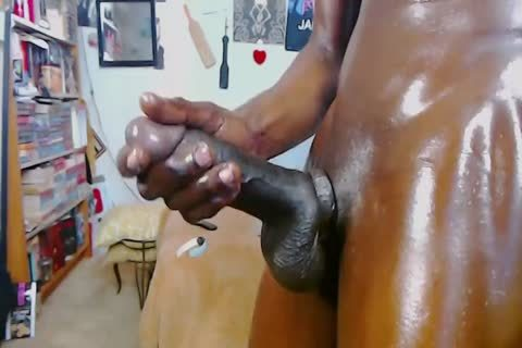 dark homo chap With Monster wang - Oil Jerkoff And large sperm