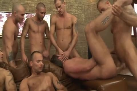 Toby Dutch receives nailed In A Seven-man raw group group-sex