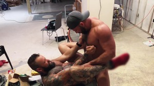 Pup & Tank slam bare All Over A Construction site - American First Time