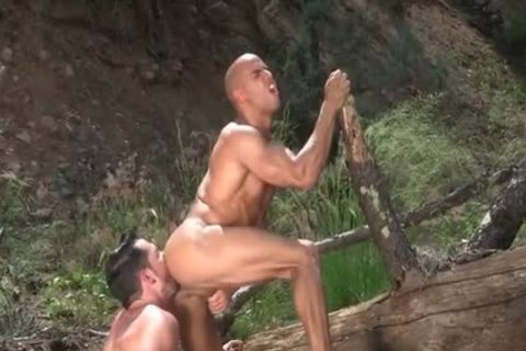 Tattoo Bodybuilder Outdoor Sex And semen Flow