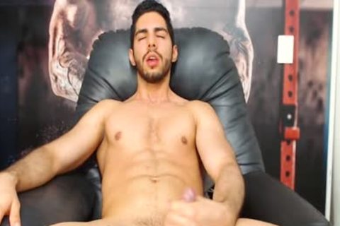 Aaron Clayton On Flirt4Free - Gaming Latino dude Strokes His Monster 10-Pounder