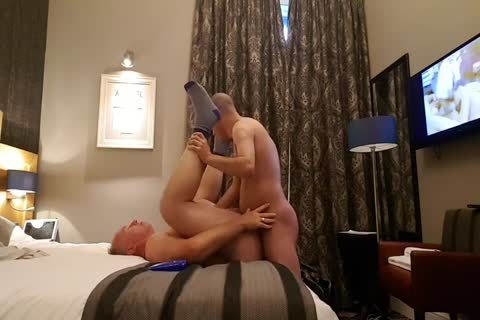 young chap Bonks worthwhile grand-dad In His Hotel Room