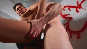BROMO - Thyle Knoxx beside Alex Montenegro blowjob cum indoor