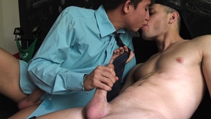 Latin Leche: Handsome friend butt pounded sex tape