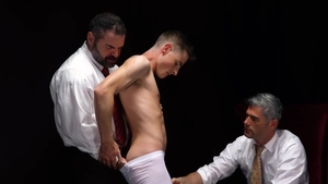 MissionaryBoys.com - Undressing & nervous bear Elder Garrett