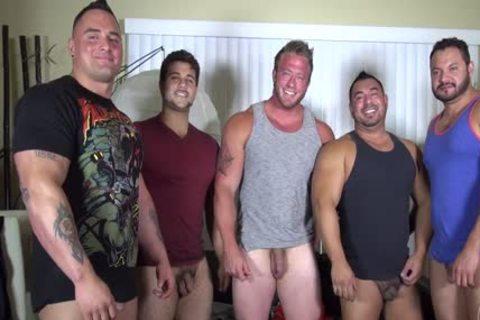 In Nature's Garb Party @ LATINO Muscle Bear house - dilettante enjoyment W/ Aaron Bruiser