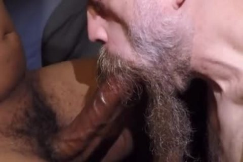 older Bearded guy, engulf A 10-Pounder