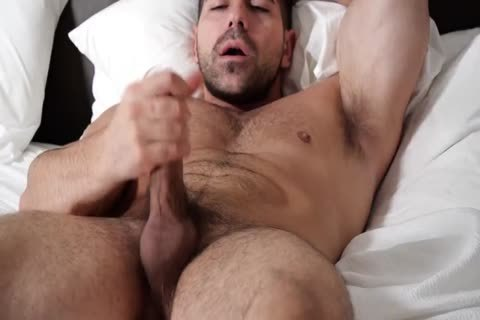 Two Muscle curly Hunks Hanging jointly And Stroking dongs