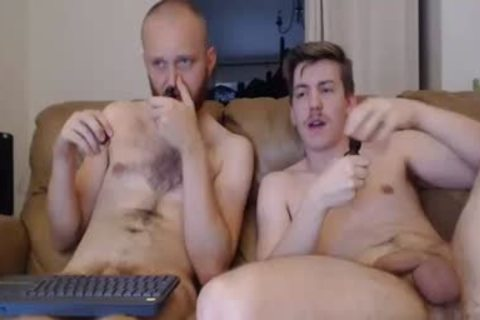 Two old males Masturbate Live