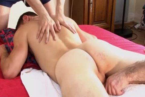 1rst Time In Porn, Straight Next Door man receives Massages By 2 guys !!!