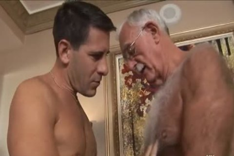 shaggy grandpapa Mutual Masturbation With Younger Coworker