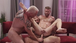 IconMale - Drew Sebastian touches huge penis