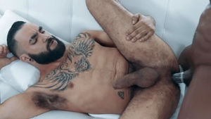 Noir Male: Black haired ebony Max Konnor butt fuck
