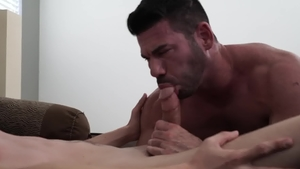 IconMale - Muscled Billy Santoro masturbation butt fuck
