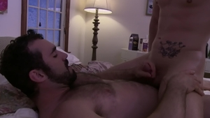 IconMale: Athletic gay Roman Todd blowjob cum HD