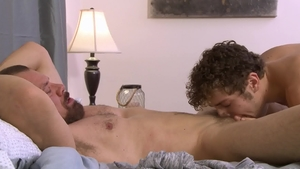 IconMale.com: Max Sargent beside Calvin Banks blowjob cum HD