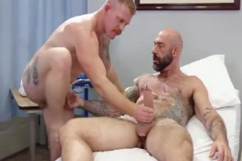 homosexual Sex : Drew Sebastian & Nurse Ginger Piercing Bear (naked)