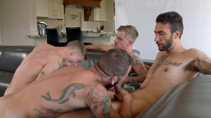 NextDoorBuddies: Couple Brian Adams bareback orgy