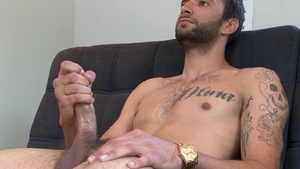 Next Door Casting - Big penis Brian Adams masturbating