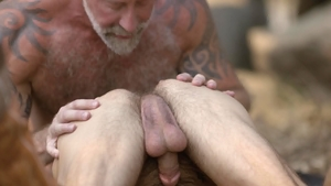 IconMale.com: Inked Lance Charger bareback anal sex outdoors