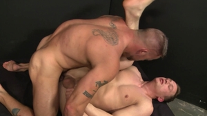 ExtraBigDicks.com - Inked Tommy Regan with european Sean Duran