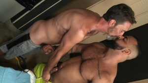 Extra Big Dicks - Brunette Tony Orion playing with Joe Parker