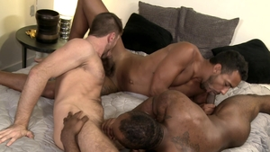 ExtraBigDicks: Jay Alexander next to inked Jack Andy threesome