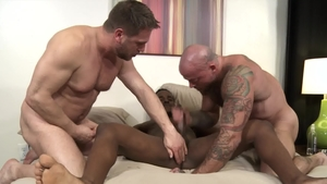 ExtraBigDicks.com - Inked Sean Duran jerking huge dick