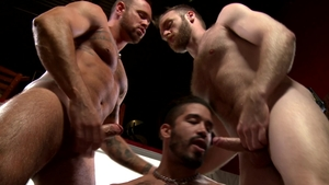 MenOver30 - Peter Marcus and blond Michael Roman threesome