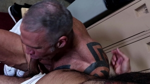 MenOver30: Rikk York among jock Dallas Steele throat fucking