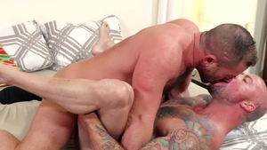 Men Over 30 - Jacob Woods alongside brunette Sean Duran facial