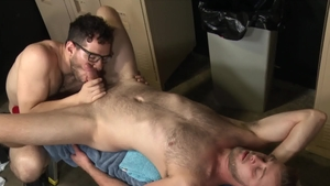DylanLucas: Hairy & athletic Chandler Scott tongue kissing
