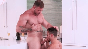 HotHouse.com - Handsome couple Austin Wolf desires gagging