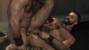 RagingStallion - Hairy Teddy Torres butt sex cumshot
