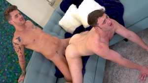 FalconStudios.com: Braces Michael Boston sensual kissing scene