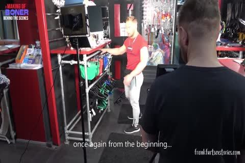 three-some Scene In A homosexual Store - The Making Of Boner
