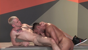 RagingStallion - Tattooed big penis Colton Grey masturbation