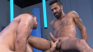 Raging Stallion: Huge penis Wesley Woods fucked in the butt