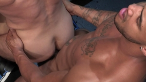 Raging Stallion - Bodybuilder Bruce Beckham group sex