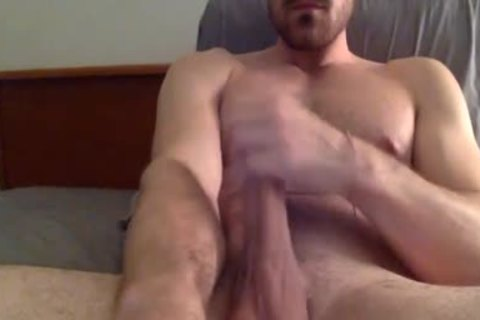 gracious And brawny chap Masturbating In web camera