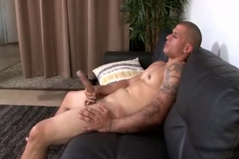 Muscle Latino With humongous penis