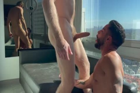 Logan Stevens plowing Brock Banks In His Hotel Windo