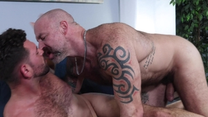 MenOver30.com - Bear Justin Eros smashed by huge cock daddy