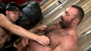 PrideStudios - Hairy gay rough receiving facial