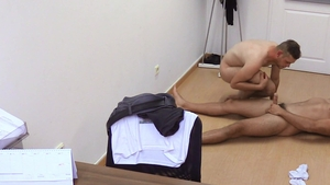 DirtyScout - Dirty twink blowjob cum in office